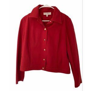 St. John sport red jacket blazer size M